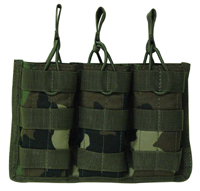Open Top MOLLE M4, M16, AR-15 Rifle Triple Magazine Pouch
