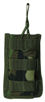 Open Top MOLLE M4, M16, AR-15 Rifle Magazine Pouch, Single