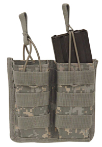 Open Top MOLLE M4, M16, AR-15 Rifle Double Magazine Pouch