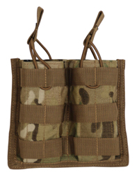 Open Top MOLLE M4, M16, AR-15 Rifle Double Magazine Pouch MultiCam