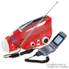 Solar / Hand-Crank Powered Flashlight & AM/FM Radio